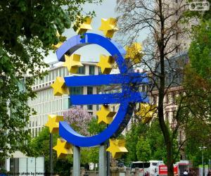 puzzel Logo van de Europese CentraleBank