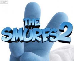 puzzel Logo van de film De Smurfen 2, The Smurfs 2