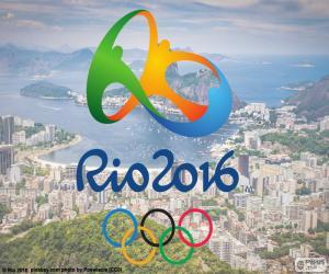 puzzel Logo van de Olympische spelen Rio 2016