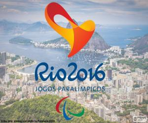 puzzel Logo van de Paralympics van Rio 2016
