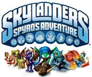 puzzel Logo van de video game van Spyro de draak, Skylanders: De avonturen van Spyro