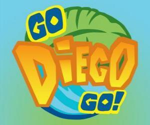 puzzel Logo van Diego, Go!