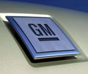 puzzel Logo van GM of General Motors. Automerk VS