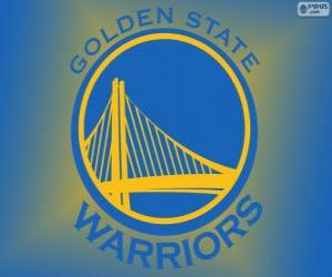puzzel Logo van Golden State Warriors, NBA-team. Pacific Division, Western Conference