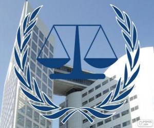 puzzel Logo van het Internationaal Strafhof