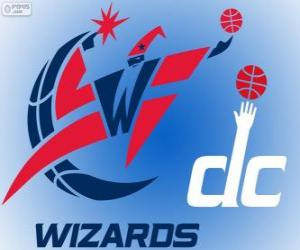 puzzel Logo Washington Wizards, NBA-team. Southeast Division, Eastern Conference