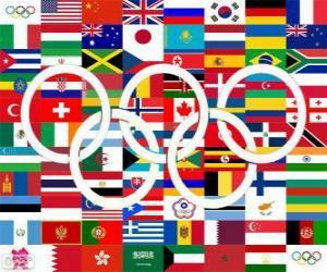 puzzel Londen 2012 landen kampioenen
