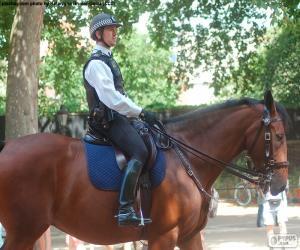 puzzel Londen politie te paard
