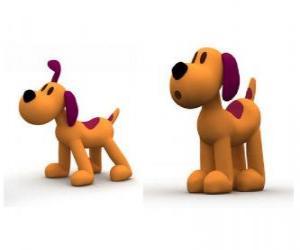 puzzel Loula de hond is de mascotte van Pocoyo