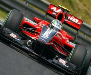 puzzel Lucas di Grassi - Virgin - 2010 Hongaarse Grand Prix
