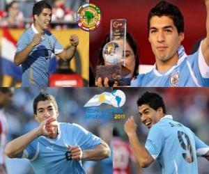 puzzel Luis Suarez de beste speler in de Copa America 2011