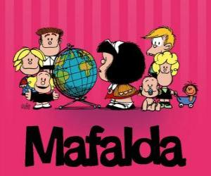 puzzel Mafalda en vrienden