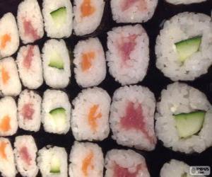 puzzel Makis, variant van sushi