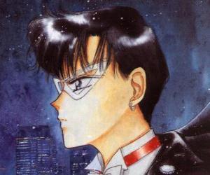 puzzel Mamoru Chiba wordt de held Tuxedo Mask, een gemaskerde man, gekleed in jacquet