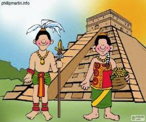 puzzel Man en vrouw Maya