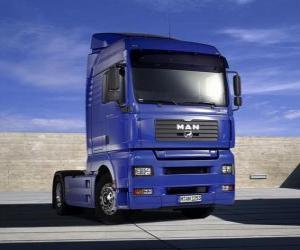 puzzel MAN truck zonder oplegger