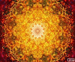 puzzel Mandala bloem van het leven