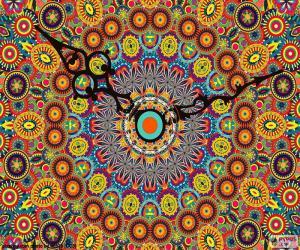 puzzel Mandala, klok