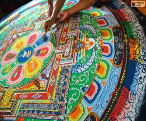 puzzel Mandala, laatste retoucheren