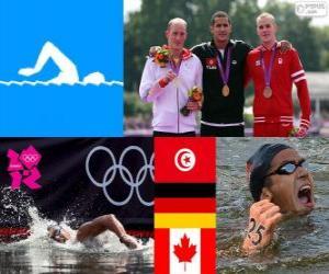 puzzel Mannen 10 kilometer zwemmen Londen 2012