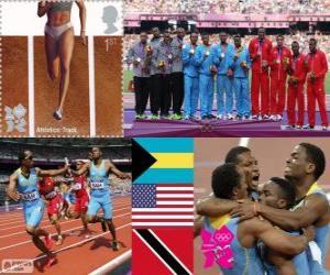 puzzel Mannen 4 x 400 m Londen 2012