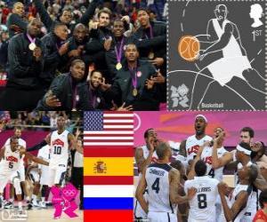 puzzel Mannen basketbal podium Londen 2012