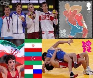 puzzel Mannen Grieks-Romeins tot 55 kg Londen 2012