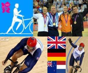 puzzel Mannen, Keirin track fietsen Londen 2012