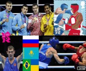 puzzel Mannen middengewicht boksen podium Londen 2012