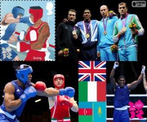 puzzel Mannen super zwaargewicht boksen podium Londen2012
