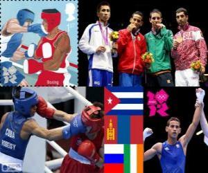 puzzel Mannen vlieggewicht boksen Londen 2012