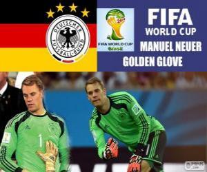 puzzel Manuel Neuer, gouden handschoen. Brazilië 2014 Football World Cup