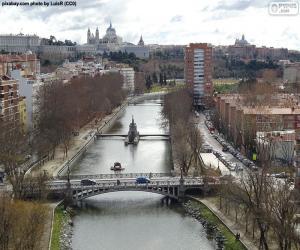 puzzel Manzanares rivier, Madrid