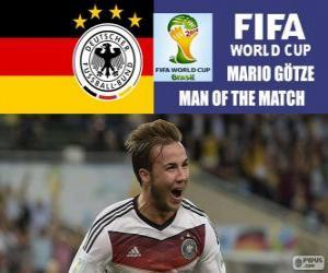 puzzel Mario Götze, beste speler van de finale. Brazilië 2014 Football World Cup