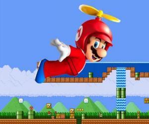 puzzel Mario vliegen met de romp met propeller