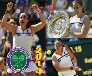 puzzel Marion Bartoli kampioen Wimbledon 2013