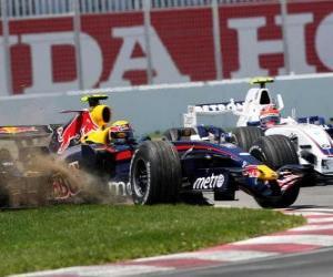 puzzel Mark Webber loodsen zijn F1