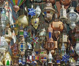 puzzel Marokkaanse lampen