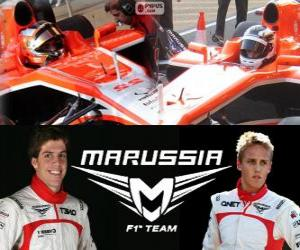 puzzel Marrussia F1 Team 2013