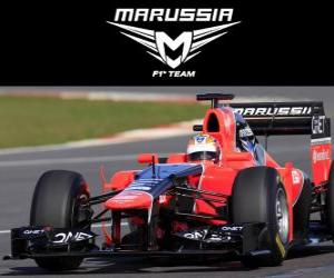 puzzel Marussia MR01 - 2012 -