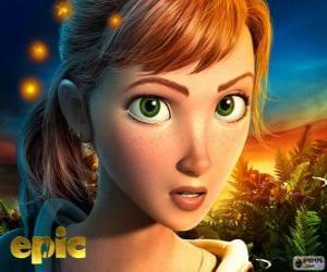 puzzel Mary Katherine, een tienermeisje die avonturen in een fantastische wereld woont