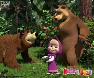 puzzel Masha met de twee beren