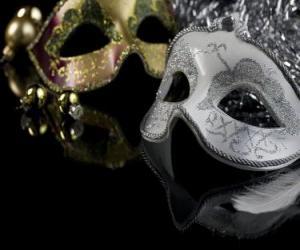 puzzel Maskers voor het einde van het jaar feest
