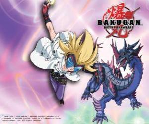 puzzel Masquerade en zijn Bakugan Darkus Hydranoid