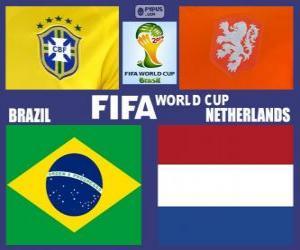 puzzel Match voor de 3e plaats, Brazilië 2014, Brazilië vs Nederland