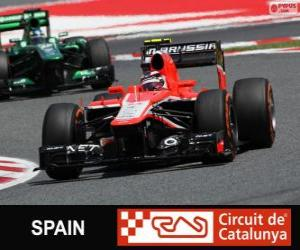 puzzel Max Chilton - Marussia - Circuit de Catalunya, Barcelona, 2013