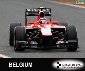 puzzel Max Chilton - Marussia - Spa-Francorchamps, 2013