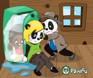 puzzel Max en Ella proberen om in de vriezer te maken aan Jay-Pea