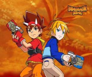 puzzel Max en Rex, twee van de protagonisten in Dinosaur King