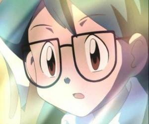 puzzel Max verschijnt als een metgezel van Ash Ketchum, is ook de jongere broer van mei en bij de groep Ash, May en Brock pokemon kweker.